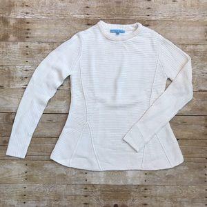 Antonio Melani White Cable Knit Sweater Size XS